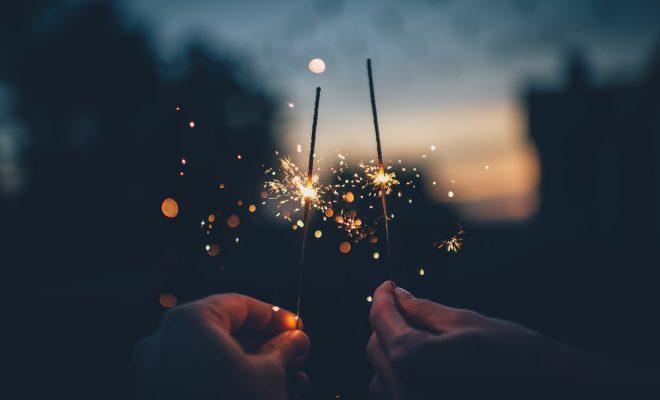 Dark Fireworks Hands Lights Macro Sparklers